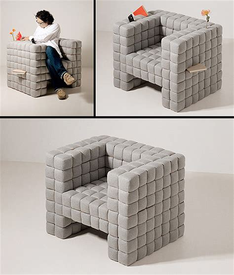 gadget sofa quot lost in sofa quot chair has slots for all your gadgets books