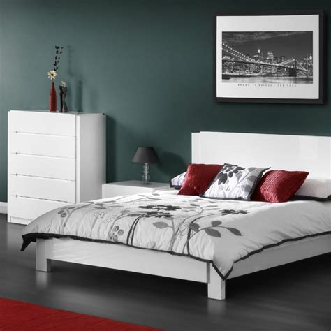 Julian Bowen Bedroom Furniture Julian Bowen Dakota Minimalist Bedroom Furniture With Charcoal Gray White And