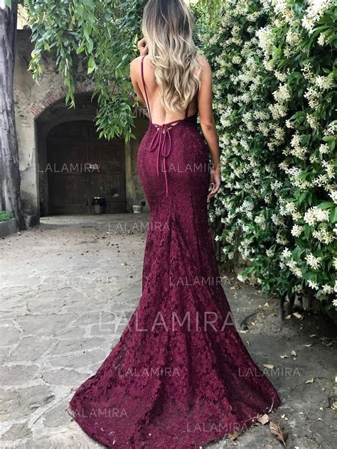 trumpet mermaid court prom dresses v neck lace sleeveless save up to 60 145977