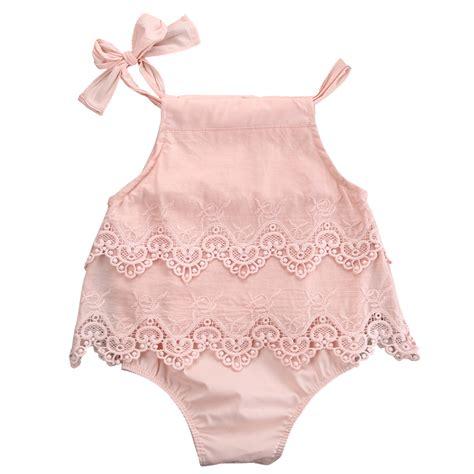 Newborn Infant Baby Lace Romper Bodysuit Jumpsuit Sunsui newborn baby lace sleeveless romper cotton jumpsuit sunsuit flower clothes 0 18m in
