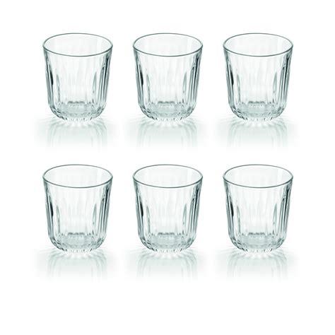 bicchieri vetro set 6 bicchieri in vetro everyday 08150000 fratelli