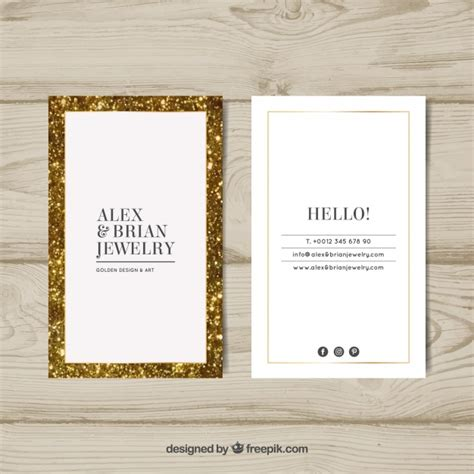 Business Card Frame luxury business card with golden frame vector free