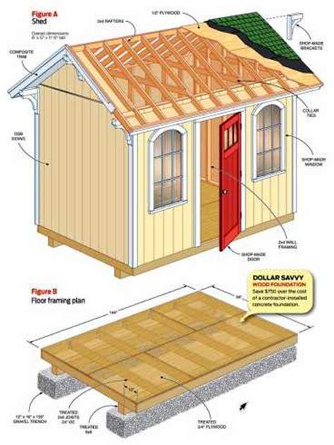 lean  shed plans   build diy blueprints