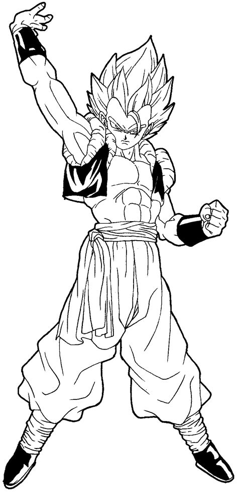 dbz hair coloring pages