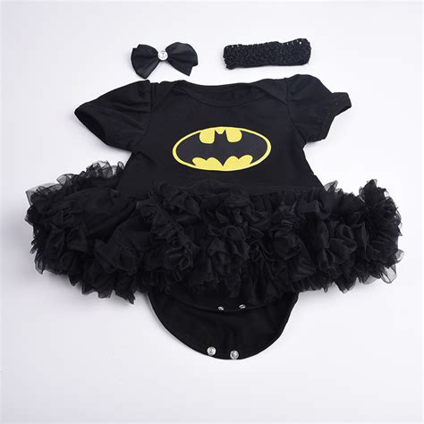 Romper Batman 1 Set newborn infant baby batman romper bodysuit dress