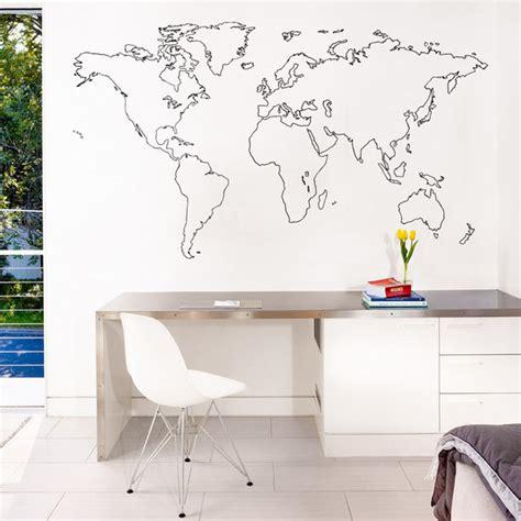 Wall Mural For Bedroom sticker mural carte du monde decoration des murs des