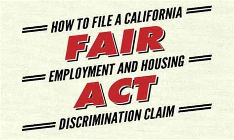 fair housing act is also known as fair employment and housing act discrimination claims