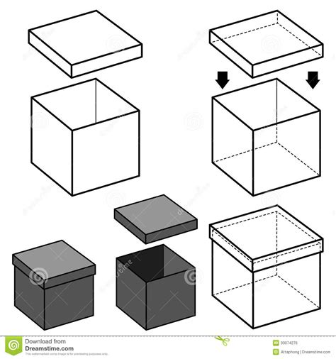 Outlined Box by Box Vector Royalty Free Stock Image Image 33074276