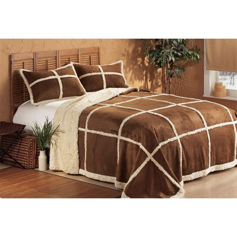 faux shearling comforter outback faux shearling bedding set 126899 quilts at