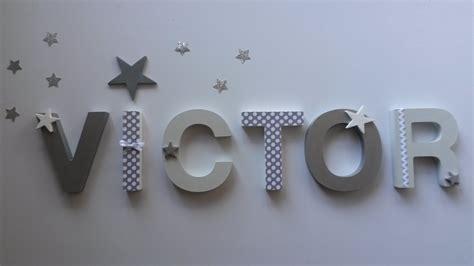 lettres pour chambre bébé lettres en bois pr 233 nom victor a poser ou fixer sur
