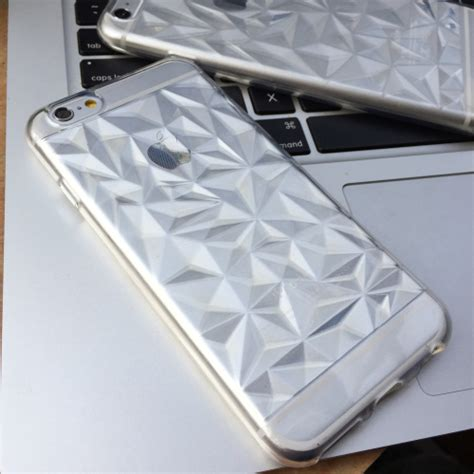 Beatiful For Iphone 5 5s new opalescent 3d geometric triangle transparent tpu shell