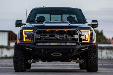 ford raptor 2017 ford raptor honeybadger winch front bumper