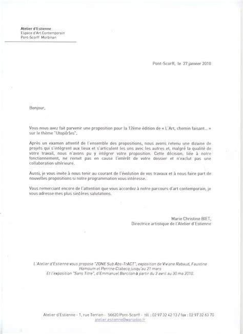 Type De Lettre Pour Un Refus De Visa exemple lettre refus de candidature comment faire un cv 2018