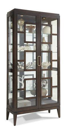 Curio Cabinets Gardner White Corner Glass Display Cabinet Light Oak Effect