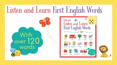 listen and learn first 1409597733 listen and learn first english words from usborne publishing youtube