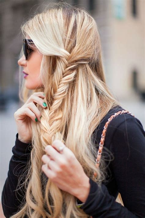fishtail braid on the side fishtail summer side 16 side braid hairstyles pretty hair ideas styles