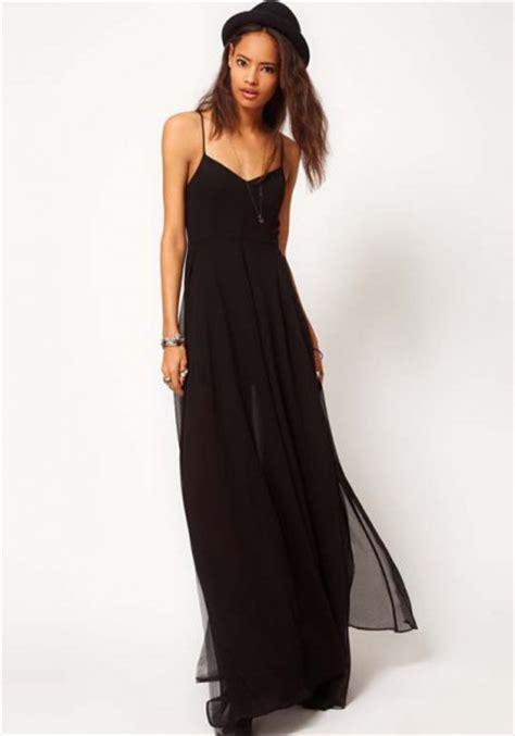 Black Deck Dress 27885 black deck v neck sleeveless chiffon dress maxi dresses dresses