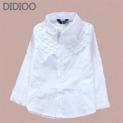 Blouse Vaby baby shirt brand cotton children clothing high quality white blouses sleeve