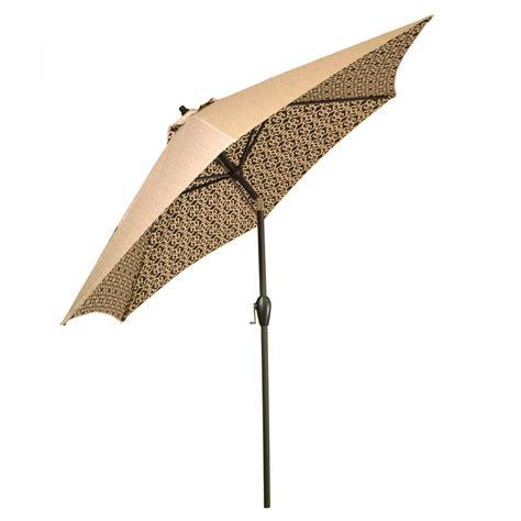 pattern market umbrella hton bay 9 ft aluminum patio umbrella in sunbrella