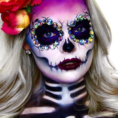 imagenes de halloween maquillage sugar skull dia de los muertos youtube com brimariefox