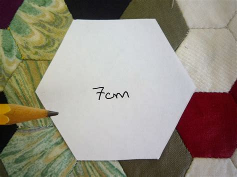 Paper Hexagon Templates For Patchwork - refill pack 500 x 7cm hexagon patchwork paper templates