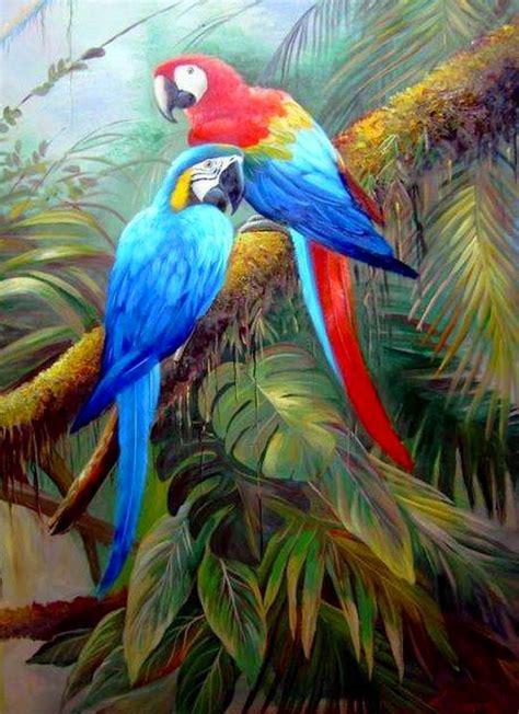 imagenes guacamayas rojas pinturas cuadros lienzos pinturas guacamayas rojas