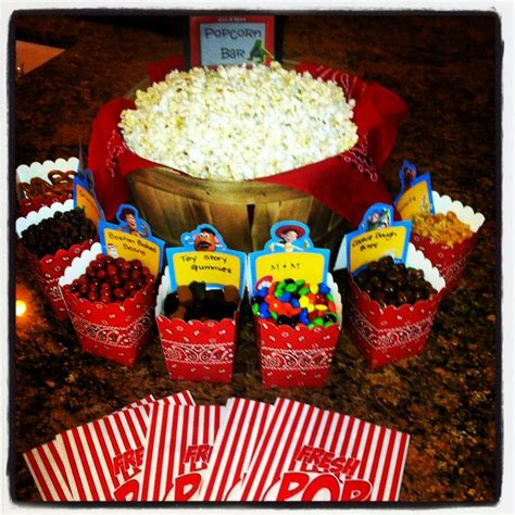 popcorn bar with mix ins accomplished pins