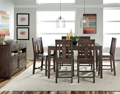 kincaid dining room sets kincaid montreat tall dining table set in graphite by