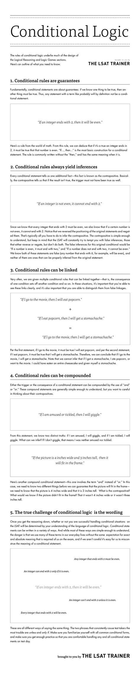 pattern logic games lsat lsat trainer conditional logic infographic image the new