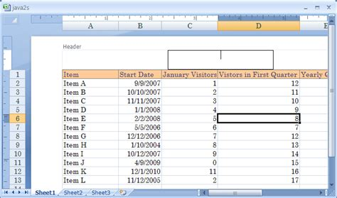facility layout excel add in insert elements in a header or footer in page layout view