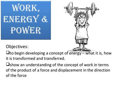 Work Energy Power Physics
