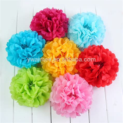 Pom Poms From Crepe Paper - yiwu aimee supplies wholesale different size tissue paper