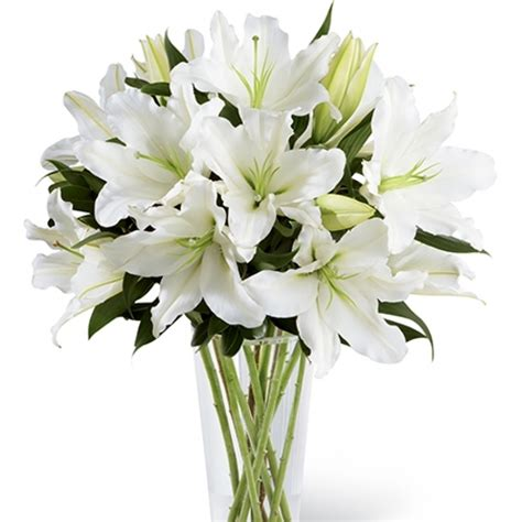 Large Oriental Vase Oriental Lilies Bouquet A Visually Stunning White