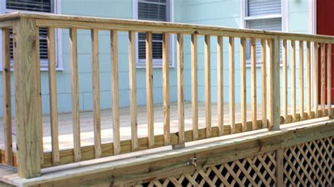 Building Handrails Building Handrails For A Wooden Deck Today S Homeowner