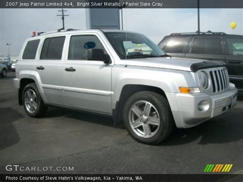 silver jeep patriot 2007 bright silver metallic 2007 jeep patriot limited 4x4