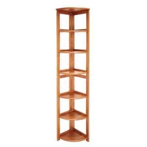 corner bookcase wood wood six shelf corner bookcase ren hbcfc6712