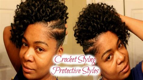crochet mohawk hairstyle natural hair styles with shaved and sides