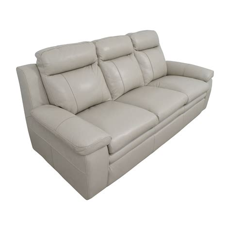 67 Off Macy S Macy S Zane White Leather Sofa Sofas Buy Leather Sofa