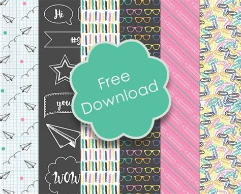 Free Craft Paper Downloads - free printable back to school papers scrap booking