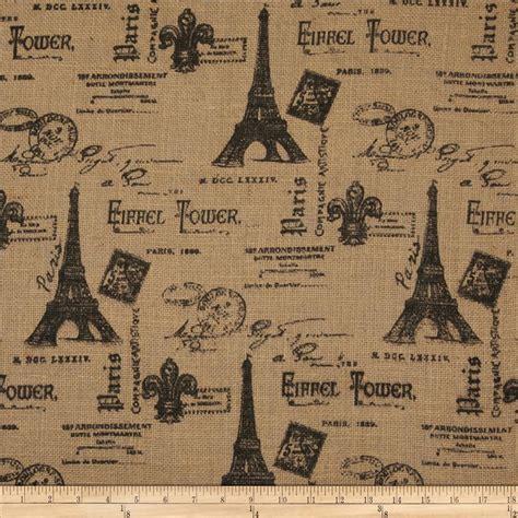 Printed Burlap Paris Eiffel Tower Discount Designer