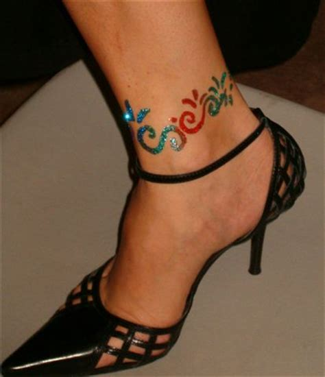 foot ankle tattoos