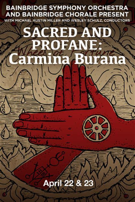 Sacred And Profane sacred and profane carmina burana seattle sings