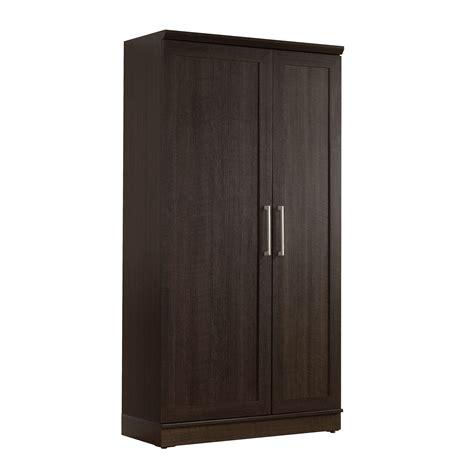 sauder homeplus transitional storage cabinet dakota oak
