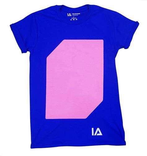 T Shirt Pria Original Raindoz 052 unisex interactive glow tshirt in royal blue by illuminated apparel notonthehighstreet