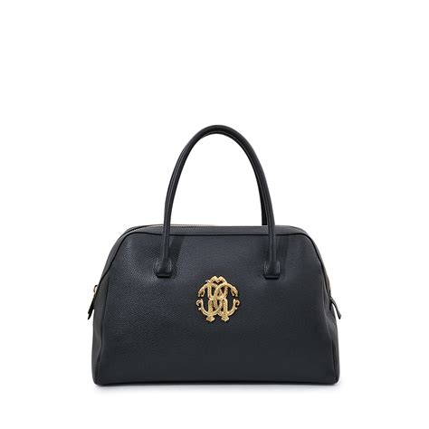 Roberto Cavallis Has Packed Bags by Roberto Cavalli Signature Satchel Bowling Bag In Black Lyst