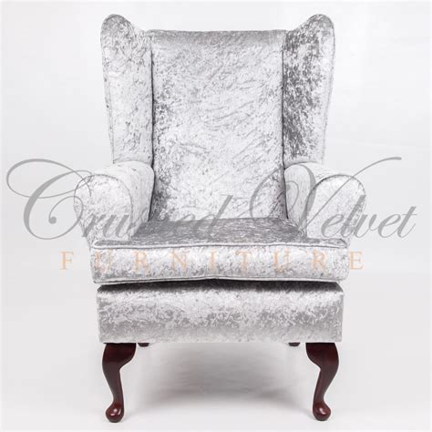 Silver Chair by Crushed Velvet Furniture Sofas Beds Chairs Cushions