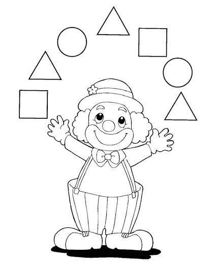 Dibujos De Un Payaso Con Figuras Geometricas   picasa on pinterest