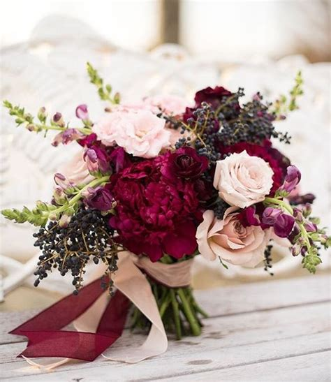 Pinterest Spring Home Decor by Picture Of Fall Bridal Bouquet With Burgundy Touches