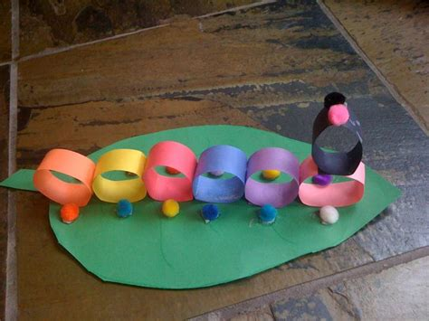Toddler Crafts With Construction Paper - construction paper craft caterpillar