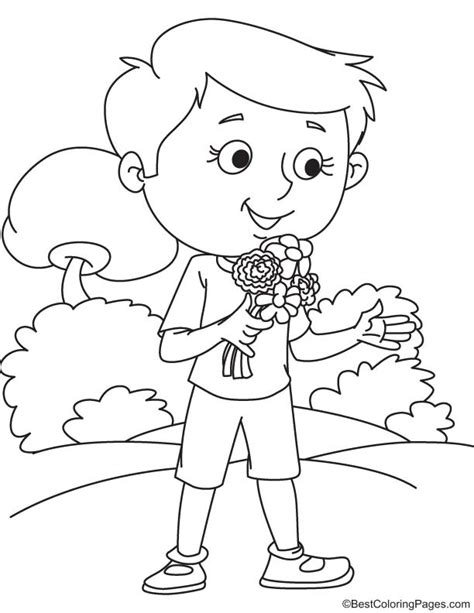 Coloring Page Zinnia by Zinnia Flower Coloring Page Free Zinnia Flower